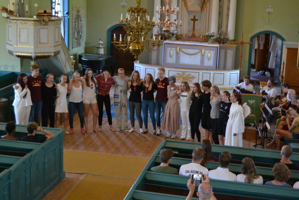 Genrep inför kyrkospelet.