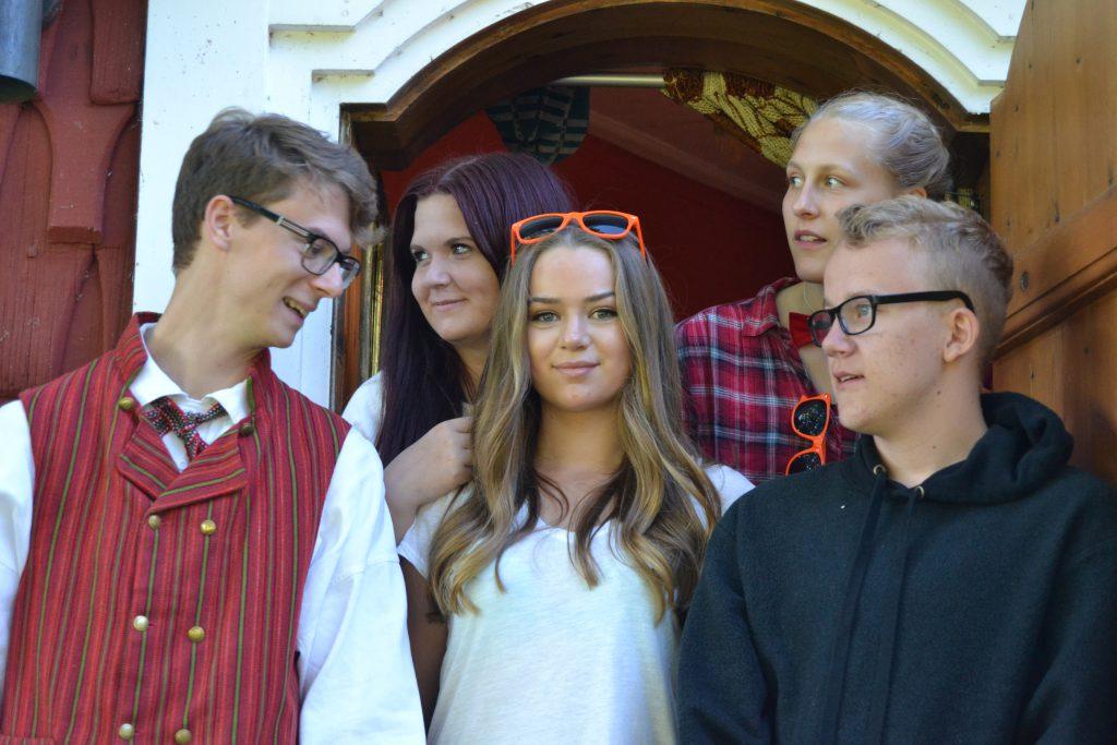 Pappa Emil, Hännii, Amanda, Winnie och Tim