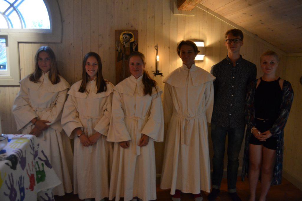 Saskia, Katja, Klara och Kalle döptes.